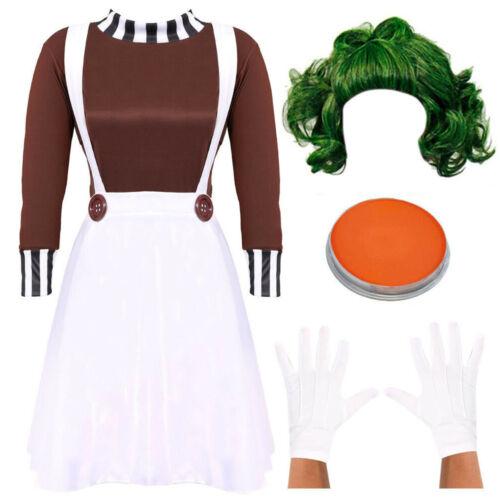 LADIES FACTORY WORKER COSTUME SCHOOL BOOK WEEK FANCY DRESS COSTUME DUNGAREES