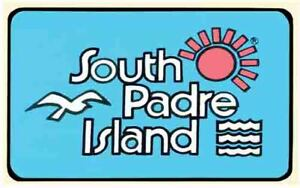 South Padre Island TEXAS  TX  Vintage 1950's Style  Travel Decal Sticker