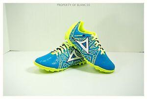 Pirma-TURF-Soccer-Cleats-Style-136-Royal-Blue-Yellow-Gladiador-Azteca-KIDS12-6-5