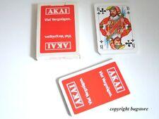 Akai Kartenspiel / Skat-Spiel / Werbung / Schöne 80er Jahre Rarität ! Unbespielt