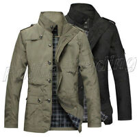 Uk Mens Jacket Fashion Warm Winter Casual Coat Overcoat Outwear Military Zip
