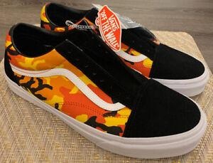 Details about Vans Old Skool Pop Camo Black Spicy Orange Suede NEW US Mens 11.5