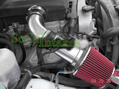 Black Red 2pc Cold Air Intake Kit /& Filter For 2007-2009 Hummer H3 3.7L L5
