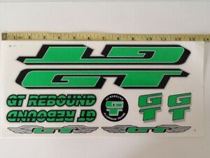Silver /& Black. GT Rebound Stickers Red