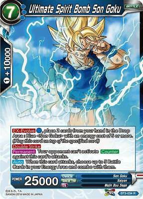 BT3-057 Rare Card Dragon Ball Super CCG Mint Finishing Spirit Bomb Son Goku