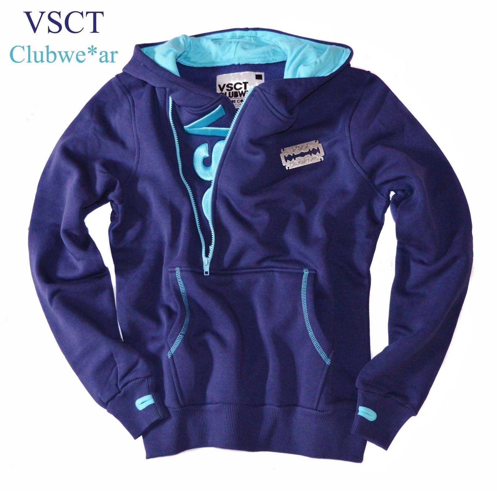 Sweatshirt by VSCT Hoody Gr.SC-Zip Logo Hoodie Kapuzen Sweater navy Neu