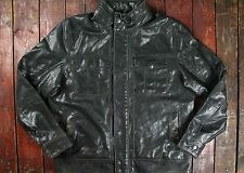 VTG LEVI'S SIGNATURE FAUX BLACK LEATHER ZIP FRONT MOTORCYCLE SPORT JACKET XL