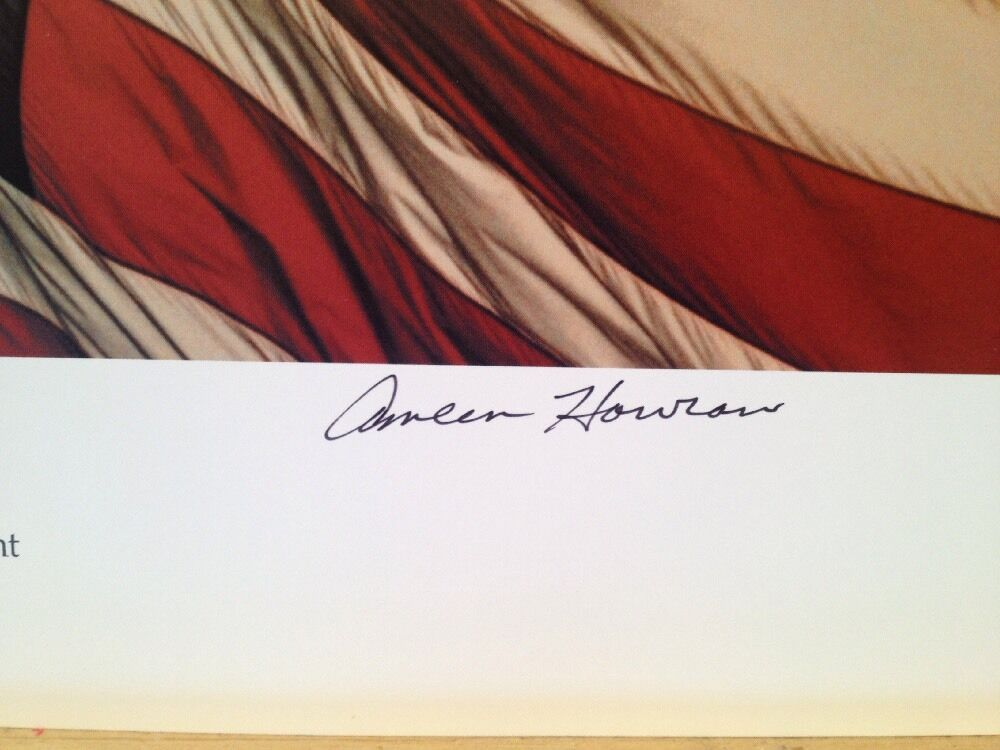 American Flag USA Photo Print Poster Dawns Early Light Ameen Howrani Signed
