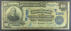 Series-1902-10-National-Bank-Note-Mechanics-amp-Metals-Bank-of-New-York