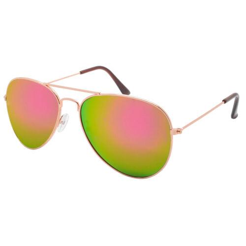 Men Womens Fashion Pilot Oversized Sunglasses Mirrored Lens Sporty Glasses