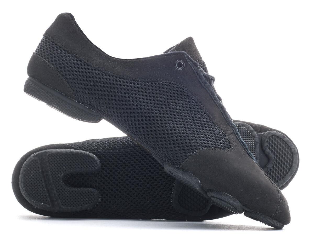 Black Lightweight Lace Up Split Sole Jazz Dance Practice Sneaker Shoes By Katz
