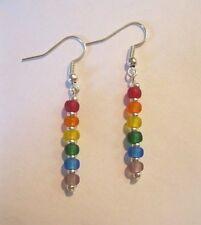 LBGT Gay Pride Earrings Miyuki Matte Glass Beads Rainbow Gay Jewelry Multi Color