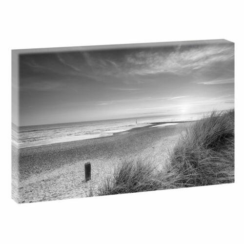 Strand/&Meer Nordsee Dünen Sonnenuntergang Leinwand Bild Wandbild Kunstdruck 500