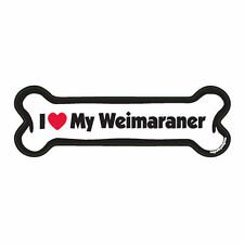 I Love My Weimaraner Dog Bone Car Magnet