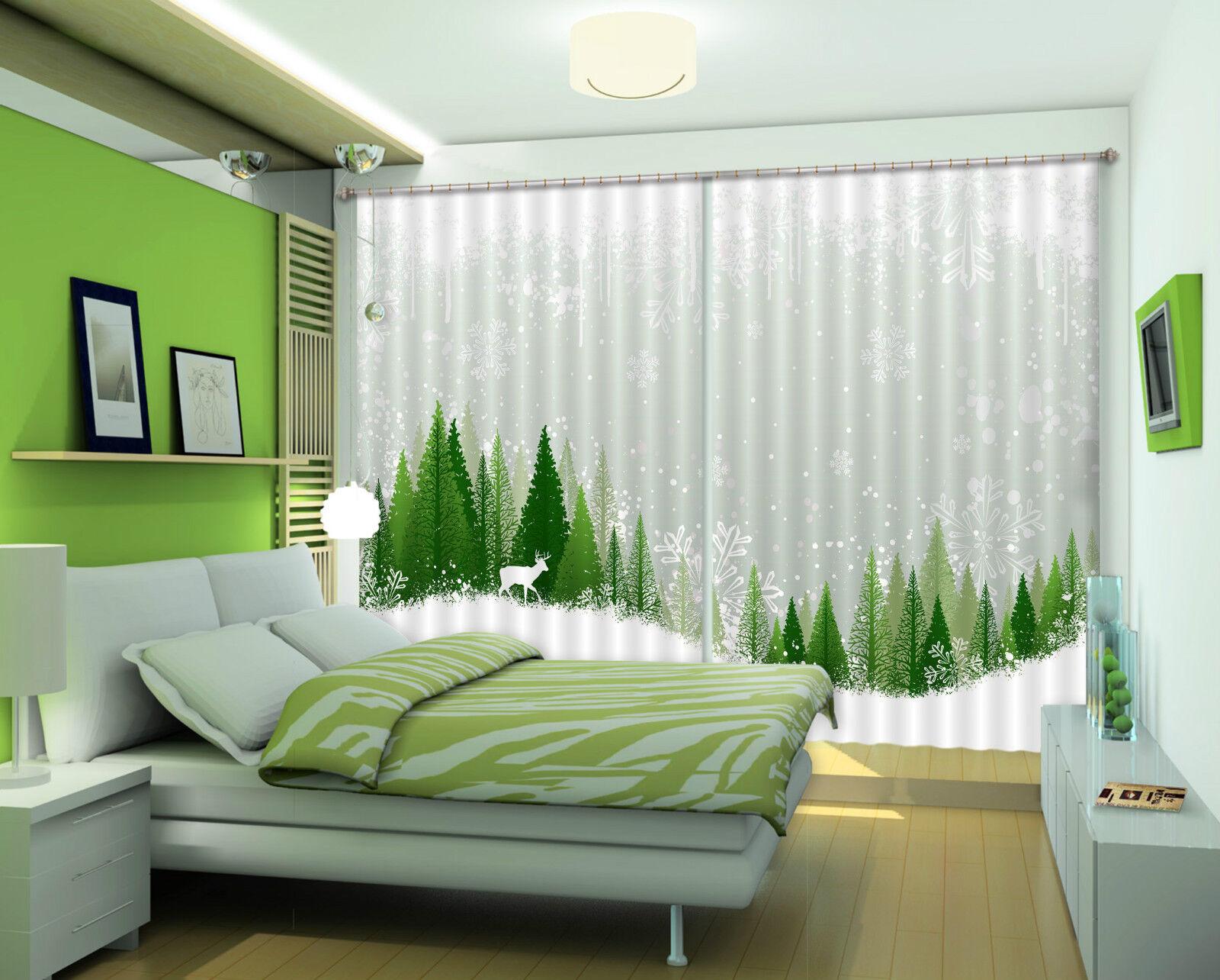3d nieve árbol 427 bloqueo foto cortina cortina de impresión sustancia cortinas de ventana