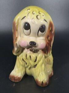 Vintage Ceramic Sad Eyed Puppy Dog Indoor Planter