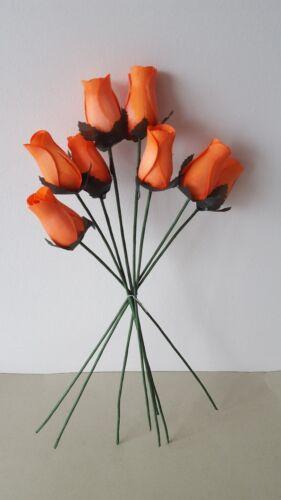Wooden Orange Rose Stems Flower Display
