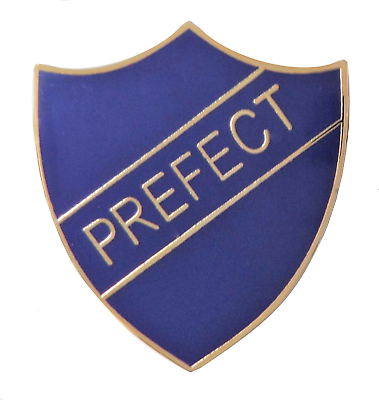 Red Prefect Badge For Schools Gold Plated Pin Badge
