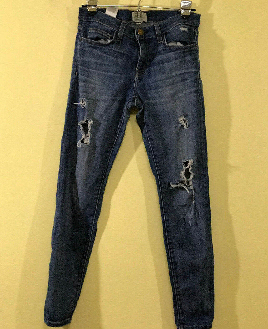 Current Elliot Women Stiletto Niagara Destroyed Skinny Jeans 1280-0088  Mid  28.