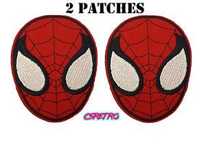 2x-Spiderman-Cartoon-Comic-Superhero-Vintage-Retro-Style-Iron-on-Patch-Applique