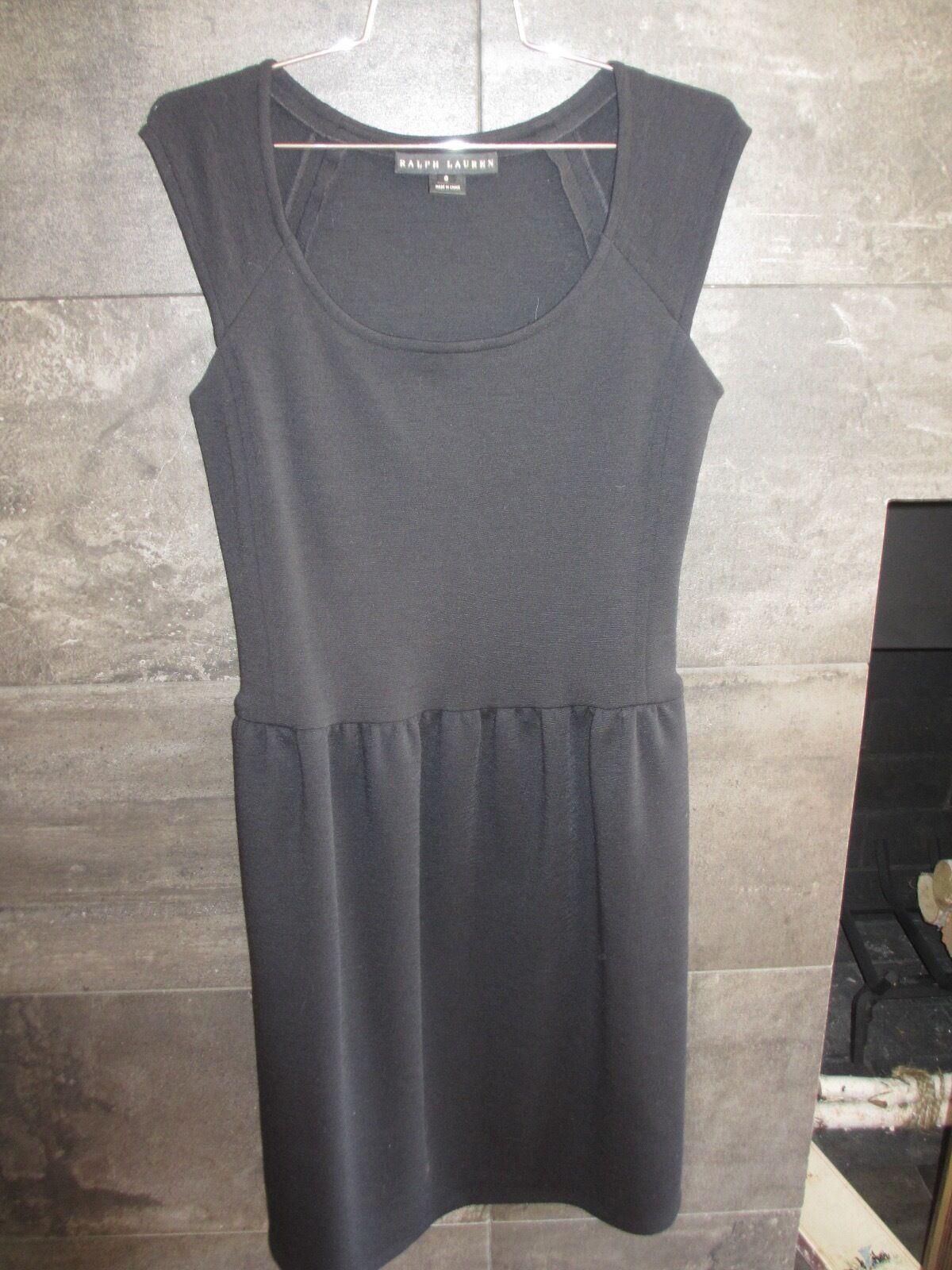 Ralph Lauren schwarz label little wool blend sleeveless schwarz dress Größe 6