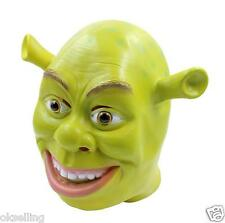 Latex Full Head Cartoon Movie Character Ogre Shrek Donkey Fairytale Mask cosplay