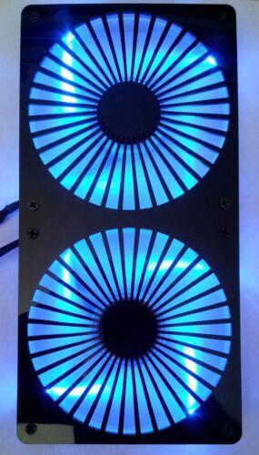 Custom Turbine 240mm Radiator double 120mm Fan Grill Computer Case Cooling Mod