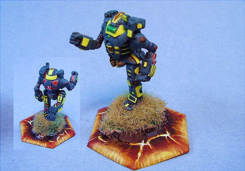 Battletech painted Fireball battlemech YG