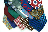 32 VTG FAT WIDE POLYESTER CRAFTS Quilting 60s 70s NECKTIE Church Neck Ties LOT