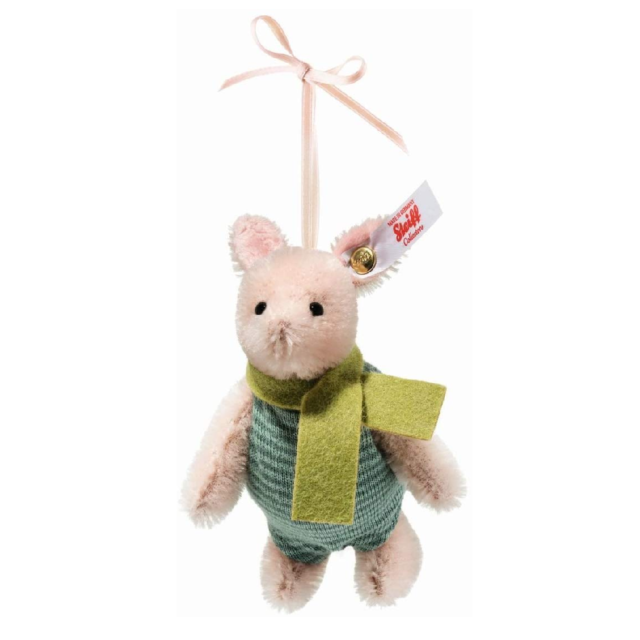 683152 Steiff Disney Piglet Hanging Ornament Mohair 9cm Limited Edition Boxed