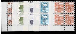 Prix Pas Cher Bund Brd Minr 1139 A - 1143 A Cachet ** Groupe Bloc Coin 3-afficher Le Titre D'origine