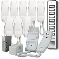 Bell909 9way System Audio Door Phone Intercom Electric Lock Kit Power Supply