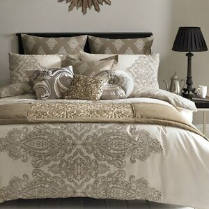 Elizabeth hurley tobago cotton paisley printed designer bedding duvet set - Look contemporary luxury bedding ...