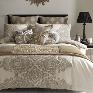 by accents pl black bed designer eastern bedding modern collections luxury neutral abernathy cream