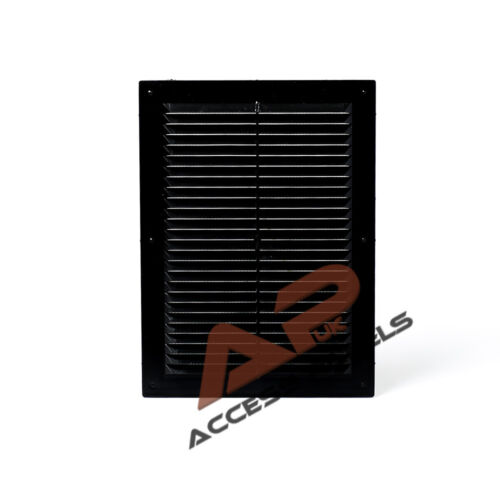 """Ventilation Grill Cover 6.9x9.4/"""" Air Vent Grille Cover BLACK 175x240mm"""