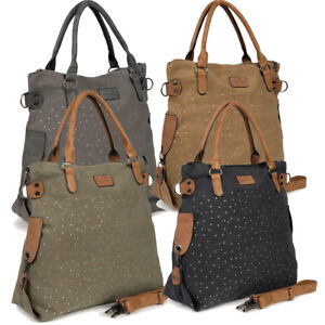 Damen Tasche Umhängetasche Shopper Schultertasche Handtasche Canvas Damentasche