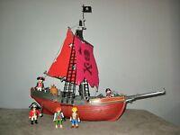 BATEAU PIRATE Playmobil 3174  avec 5 PERSONNAGES - Soldats/Pirates