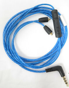 Net-Shield-With-Mic-Remote-Volume-Cable-For-Shure-se215-se315-se425-se535-Se846
