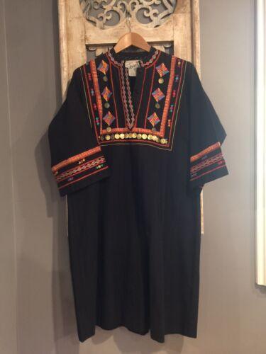Vintage Josefa Mexico Dress Cotton Hippie Festival