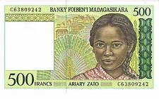 MADAGASCAR BANKNOTE 500 P75b ND 1994 UNC