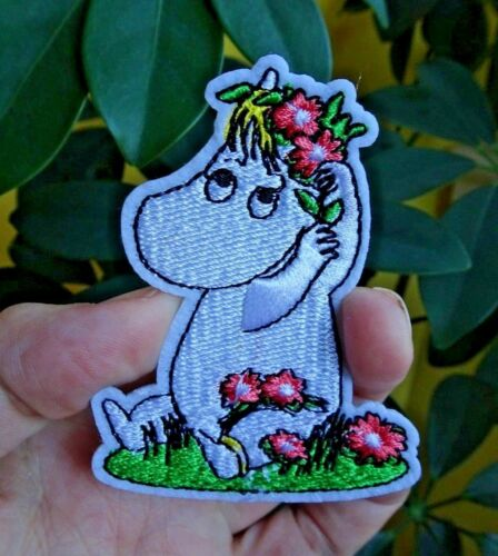 Snork Maiden Moomin Troll Hippo Embroidered Patch Badge Craft Sew Tove Jansson