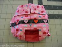 Pink Color Hearts Female Dog Diaper Panty Adjust Elastic Carols Crate Covers