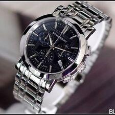 Burberry  BU1360 Heritage Silver Tone Stainless Steel Bracelet Chronograph Watch