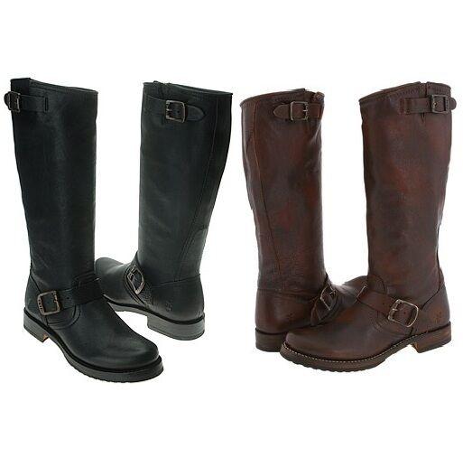 Brand New FRYE Veronica Slouch Womens Boots Dark Brown, Black