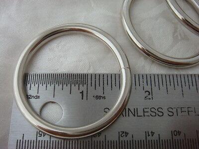"NICKEL PLATED  HEAVY  SPLIT /'D/' DEE RINGS 32mm 2  x  1 1//4/"""