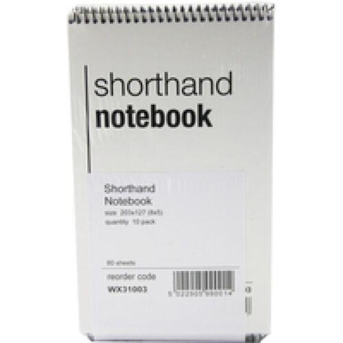 10 SHORTHAND SPIRAL BOUND RESTAURANT STAFF ORDER NOTE BOOK FEINT 80 LEAF WX31003