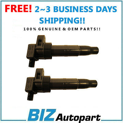 OEM GENUINE NEW IGNITION COIL SET OF 2 for 06-12 HYUNDAI KIA 27301-3C000