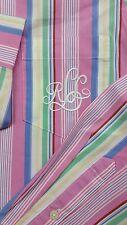 S107 Men's Ralph Lauren Embroideried Pocket Long Sleeve Dress Shirt Medium