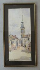 Aquarelle Ernest Yann D'Argent. Voutenay sur Cure dans L'Yonne. 1902