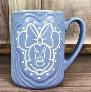 Disney-Parks-Blue-Gray-Minnie-Mouse-Coffee-Mug-Cup-Authentic-FREE-SHIPPING